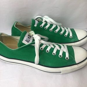 All Star Low Top Green Converse Sz Men-10 Women-12